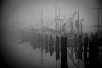 Shrimp Boats in Morning Fog