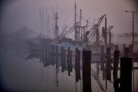 Shrimp Boats on a Foggy Morning