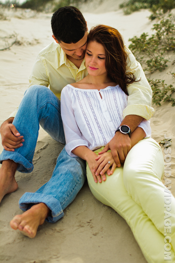 Engagement session on the beach on Padre Island