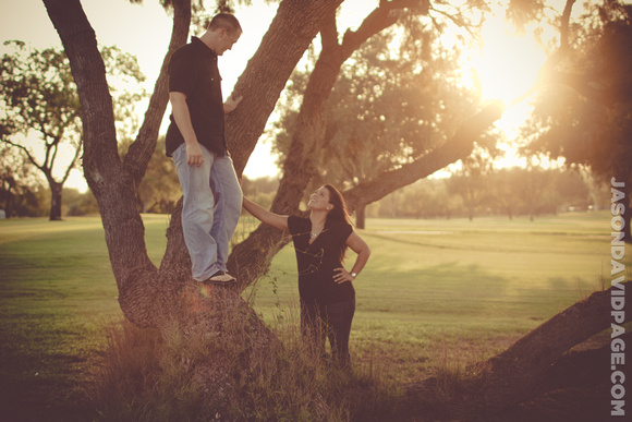 Golf Course engagement session in Corpus Christi