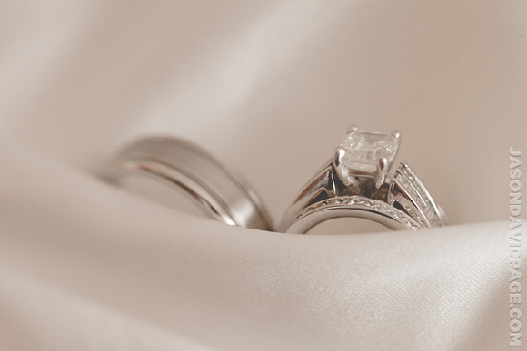 Rings in Dress by Corpus Christi wedding photographer Jason Page