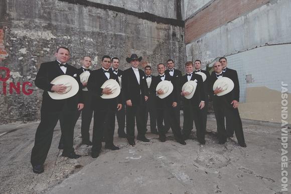 Groomsmen group photo by Corpus Christi wedding photographer Jason Page